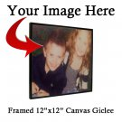 """Framed 12"""" x 12"""" x 3/4"""" Canvas Print of Your Photo - Canvas Giclee"""