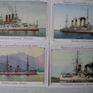 Russo-Japan War 1904-05:Ships/Battles.9 postcards SET 3