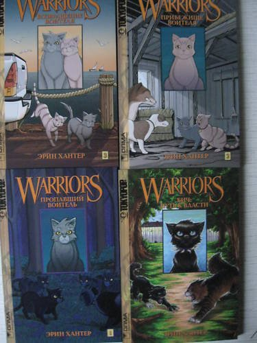 Erin Hunter. Warriors. 4 Picture Books