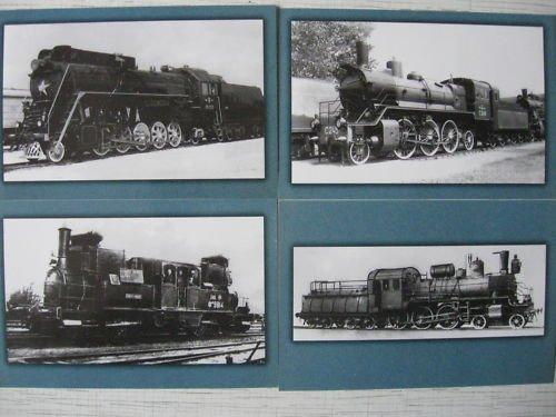 Steam Locomotives of Russian Railways16 Postcards Set 2