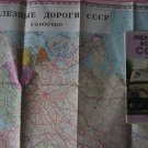 The ex-USSR Railways. Map. 1:8 000 000
