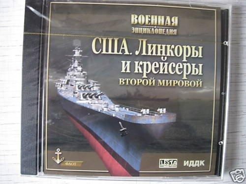 The US Navy WW2 Battleships and  Cruisers. CD