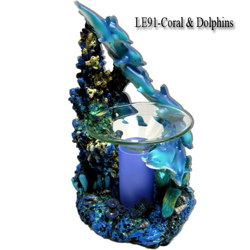 Coral and Dolphin Electric Oil Burner
