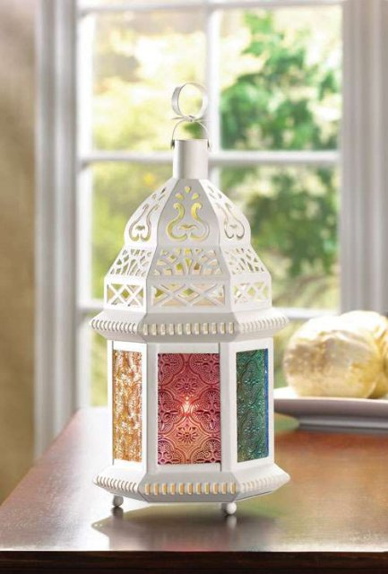 Ivory Candle Lamp