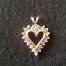 Diamond Heart pendant  P-1090