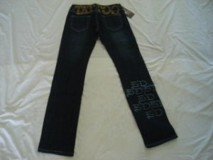 ED Hardy womens long jeans pants SIZE 31