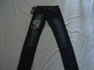 ED Hardy womens long jeans pants SIZE 28