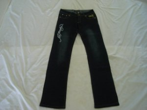 ED Hardy womens long jeans pants SIZE 30