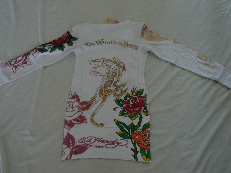 ED Hardy long sleeve womens dress shirt L