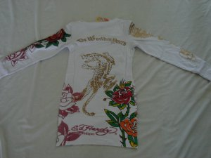 ED Hardy long sleeve womens dress shirt L