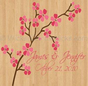 Dance Floor Decals Pink Cherry Blossom