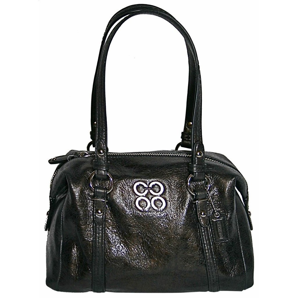 Coach Julia Leather Small Top Handle Satchel Bag Tote Black - Coach 45524BLK
