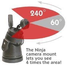 X10 VK75A Ninja Pan 'n Tilt Camera System, Includes ZC15A + XM14A + CR14A + XC18A