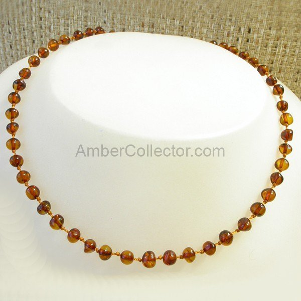 Baby teething Baltic amber beads necklace