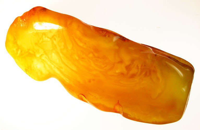 Large polished Baltic fossil amber stone
