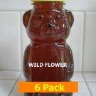 SAVE 10% - 6pk Wildflower Honey 6 x 12oz btls. Item # WLD-6