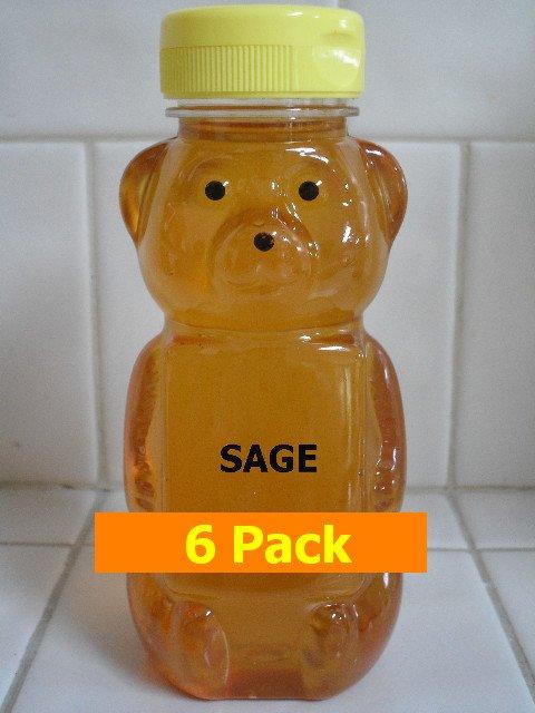 SAVE 10% -6pk Sage Honey 6 x 12oz btls. Item # SG-6