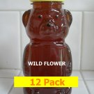 SAVE 20% - 12pk Wildflower Honey 12 x 12oz btls. Item # WLD-12