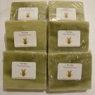 SAVE 10% - 6pk Tea Tree Soap Handmade. Item # STT-6