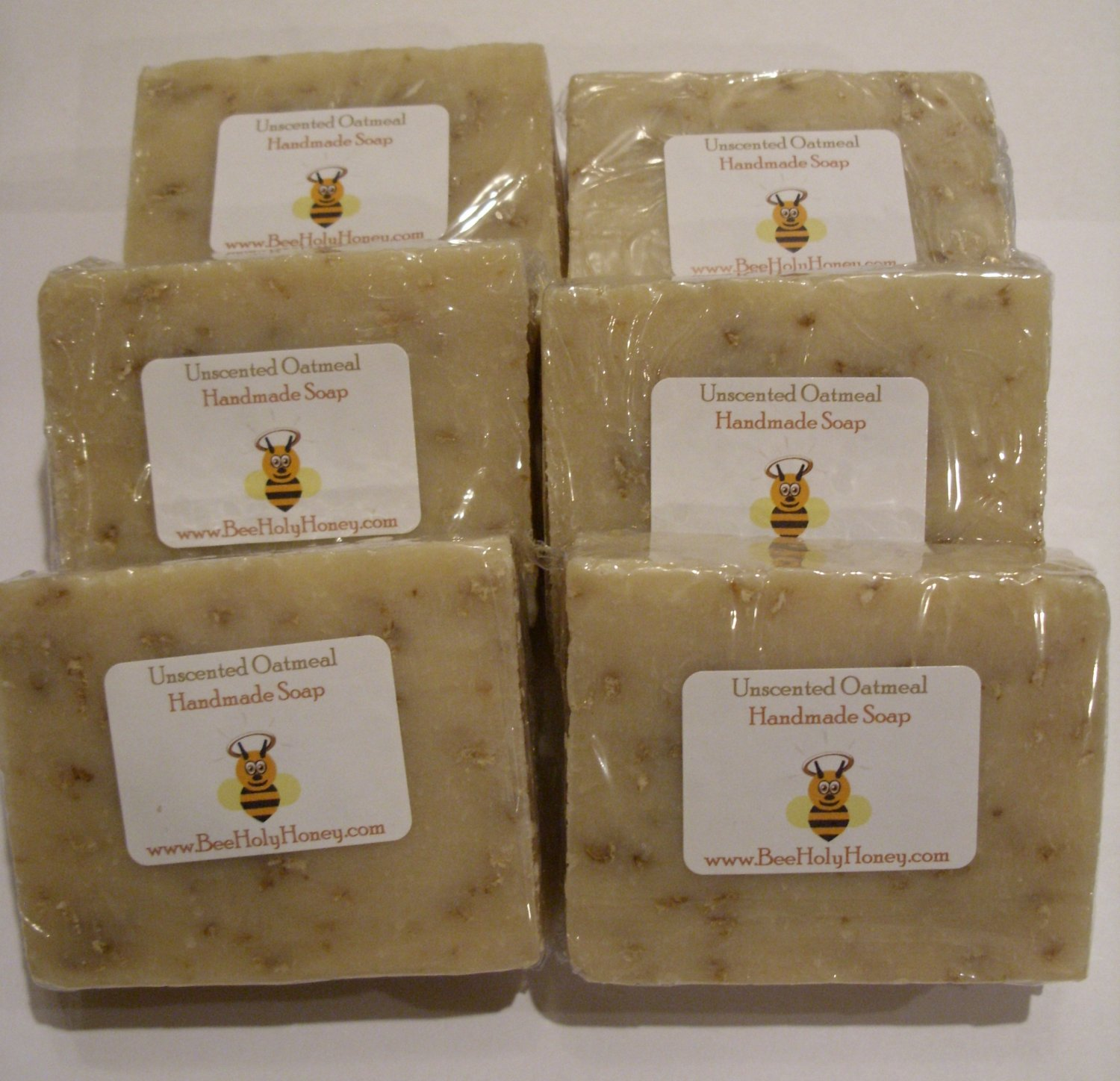 SAVE 10% - 6pk Unscented Oatmeal Soap. Item # SUO-6