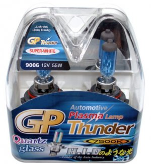 9006 HB4 Super White 7500K GP Thunder Xenon Plasma Head Light Bulbs