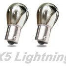 X5 Lightning 1156 1141 7506 Silver Stealth Chrome Red Turn Signal Bulbs