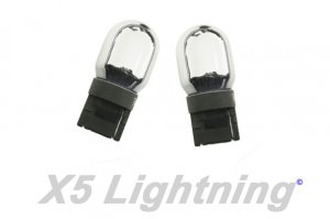 X5 Lightning 7440 992 T20 Silver Chrome Wedge Amber Light Bulbs