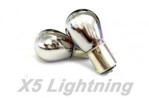 X5 Lightning 1157 7528 Chrome Amber Light 2-Bulbs TurnSignal/BackUP/Tail