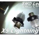 X5 Lightning BMW E90 E91 325i 328i 335i White Angel Eyes LED HALO Light Bulbs