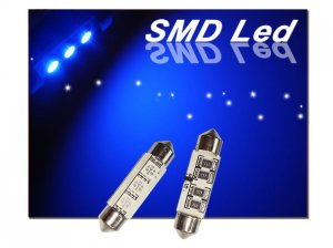 GP Thunder 1142 6413 212 214 Canbus Blue SMD 5050 LED Festoon Dome Light Bulbs