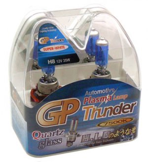 H8 Super White GP Thunder 7500k 12V 35W Xenon Plasma Driving Head Light Bulbs