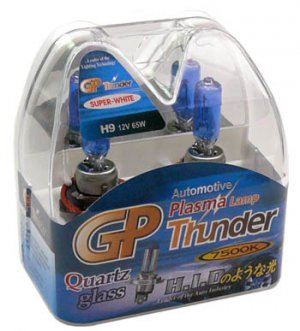 H9 Super White GP Thunder 7500k 12V 65W Xenon Plasma Driving Head Light Bulbs