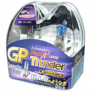 H1 Plasma White GP Thunder 8500k 55W Standard Wattage Head Light Bulbs