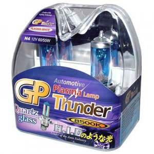 H4 Plasma White GP Thunder 8500k 60/55W Standard Wattage Head Light Bulbs
