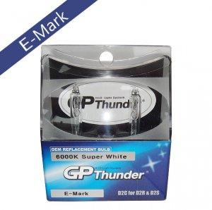GP Thunder 6000K Super  White D2S D2R HID Xenon Light Bulbs for Acura Benz BMW Lexus Infiniti E-mark