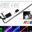 "24"" RGB 7-Color LED Knight Rider Strip Light Kit w/ Wireless Remote Control NEW"