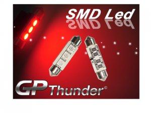GP Thunder No Error 1036 6418 6423 Canbus SMD 5050 LED Festoon Light Bulbs Red