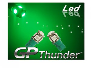 194 GP Thunder 168 2825 T10 5050 SMD 5LED Super Green tag Light Bulbs