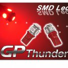 194 GP Thunder 168 2825 T10 5050 SMD 5LED Super RED tag Light Bulbs