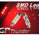 GP Thunder No Error 1039 6418 6423 RED Canbus SMD 5050 LED Festoon Light Bulbs