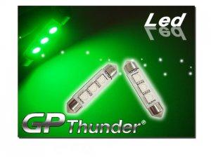 GP Thunder No Error 1039 6418 6423 Green Canbus SMD 5050 LED Festoon Light Bulbs