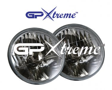 "Pair of GP Xtreme 7"" Conversion Head lights Seal Beam H6014 Angel Eyes"