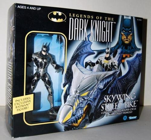 BATMAN LEGENDS OF THE DARK KNIGHT SKYWING STREET BIKE WITH EXCLUSIVE 6 INCH ACTION FIGURE 1996