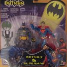BATMAN DC SUPERHEROES BATMAN AND SUPERMAN ACTION FIGURE 2 PACK 2003 MATTEL