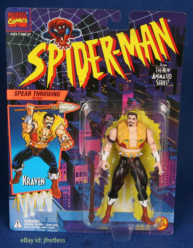 SPIDERMAN ANIMATED SERIES KRAVEN ACTION FIGURE 1994 TOYBIZ