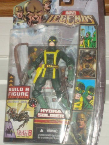 MARVEL LEGENDS BROOD QUEEN SERIES WAVE H.Y.D.R.A. SOLDIER ACTION FIGURE CLOSED MOUTH HASBRO HYDRA