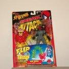 SPIDERMAN SNEAK ATTACK FLIP 'N TRAP RED SKULL ACTION FIGURE 1998 TOYBIZ