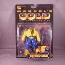 MARVEL COMICS MARVEL GOLD COLLECTOR'S EDITION SERIES POWER MAN ACTION FIGURE 1997 TOYBIZ AVENGERS
