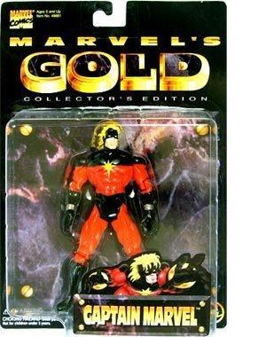 Comicfiguren Marvel Gold Kapitän Marvel Actionfigur Collector Edition
