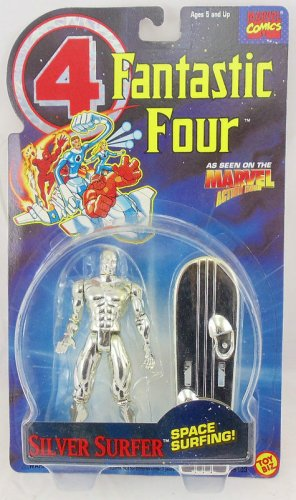 FANTASTIC FOUR ANIMATED SERIES SILVER  SURFER ACTION FIGURE 1994 TOYBIZ